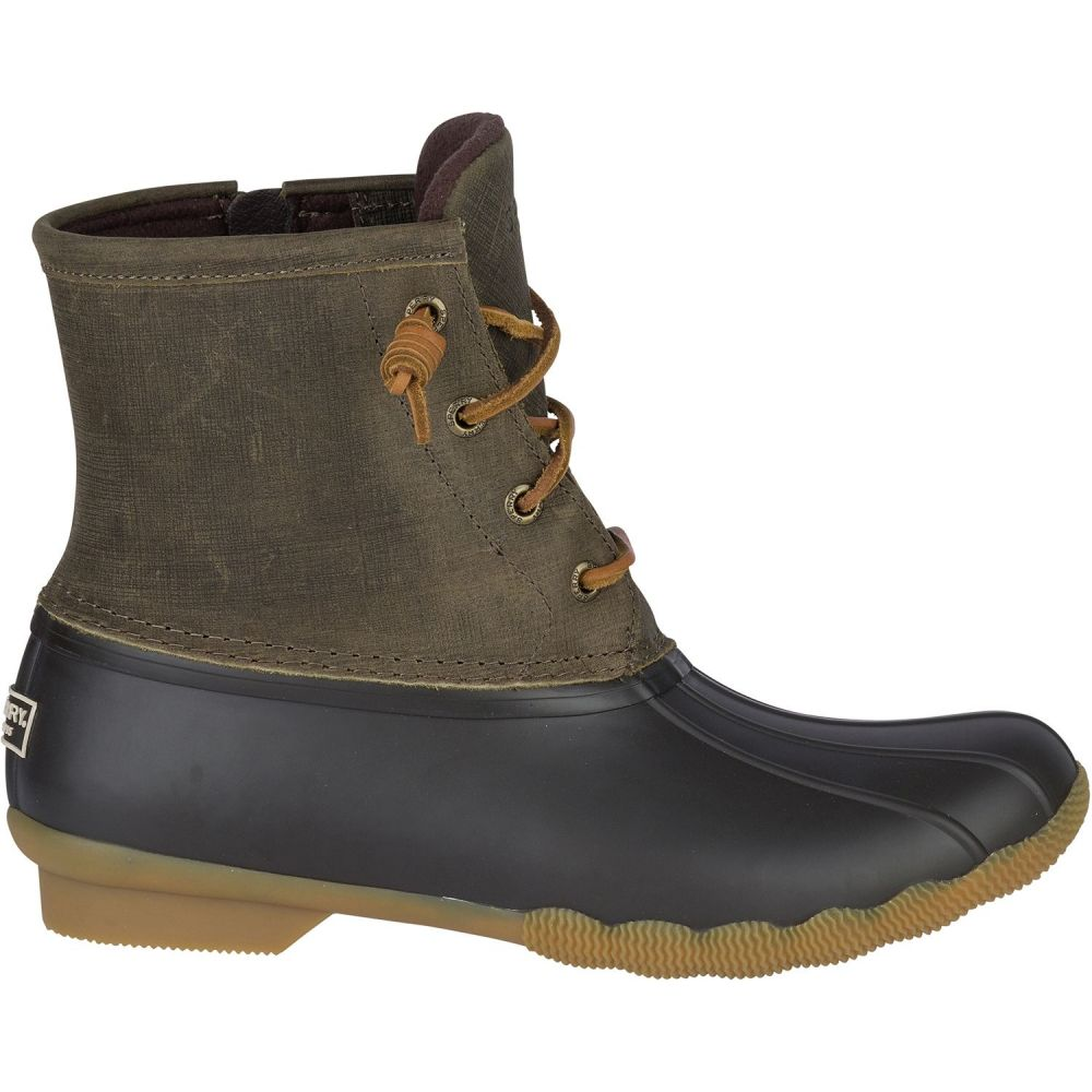 スペリー Sperry Top-Sider レディース ブーツ ウインターブーツ シューズ・靴【Sperry Saltwater Core Waterproof Winter Boots】Olive
