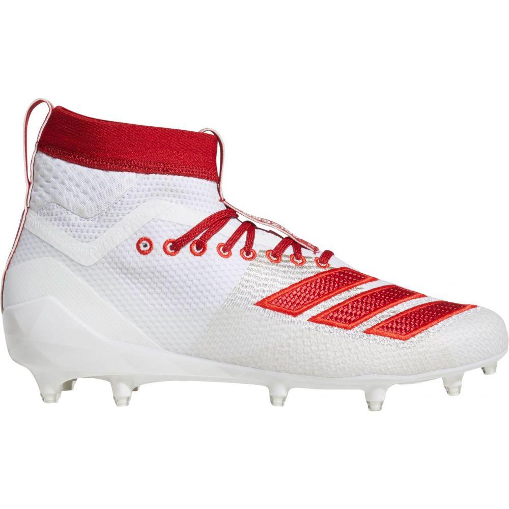 アディダス adidas メンズ アメリカンフットボール スパイク シューズ・靴【adizero 8.0 Burner SK Football Cleats】White/Red