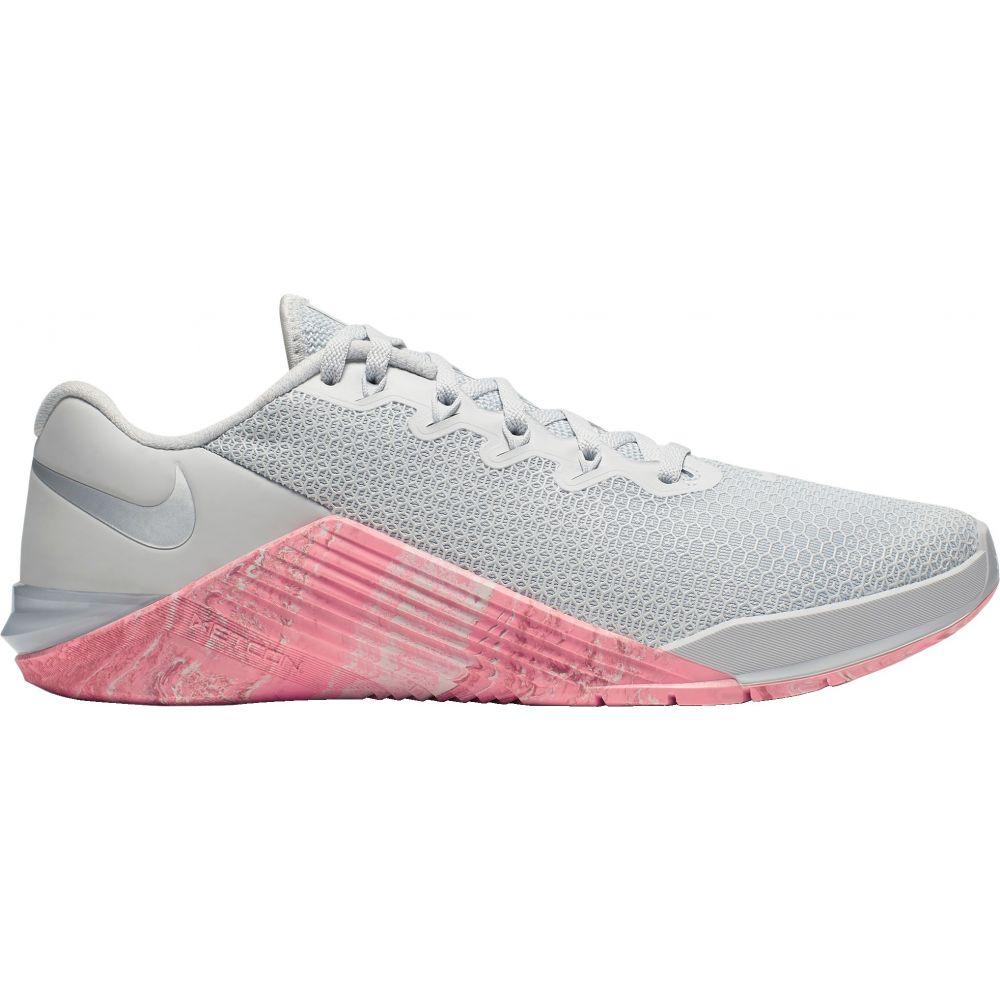ナイキ Nike レディース フィットネス・トレーニング シューズ・靴【Metcon 5 Training Shoes】Pure Platinum/Oil Grey/Imperial Blue