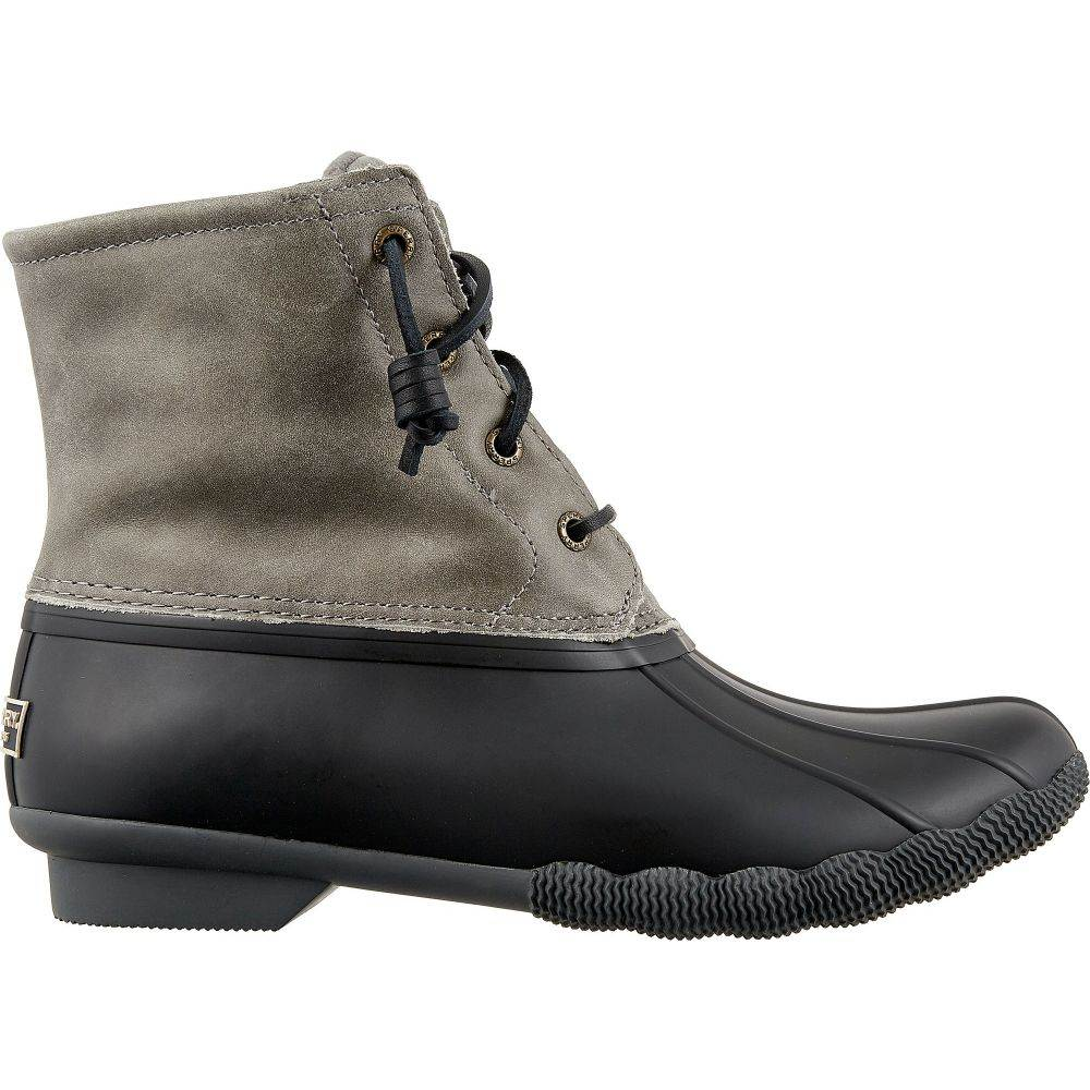 スペリー Sperry Top-Sider レディース ブーツ ウインターブーツ シューズ・靴【Sperry Saltwater Core Waterproof Winter Boots】Black/Grey