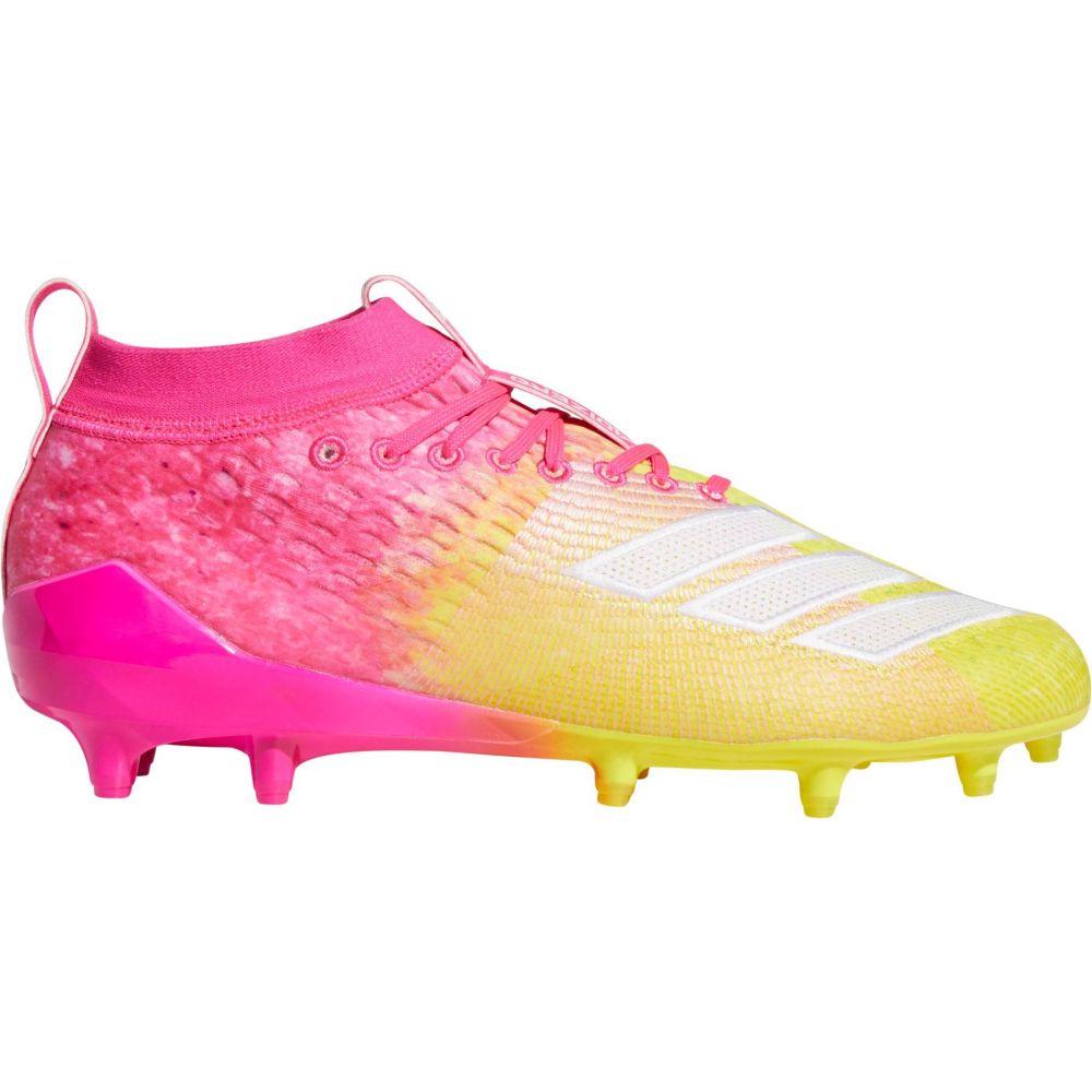 アディダス adidas メンズ アメリカンフットボール スパイク シューズ・靴【adizero 8.0 Snow Cone Football Cleats】Pink/Yellow