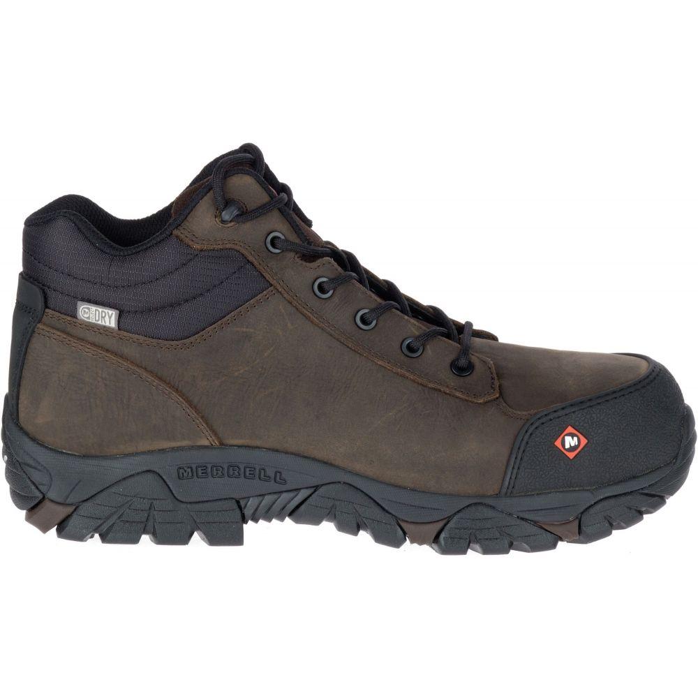 メレル Merrell メンズ ブーツ ワークブーツ シューズ・靴【Moab Rover Mid Waterproof Composite Toe Work Boots】Espresso