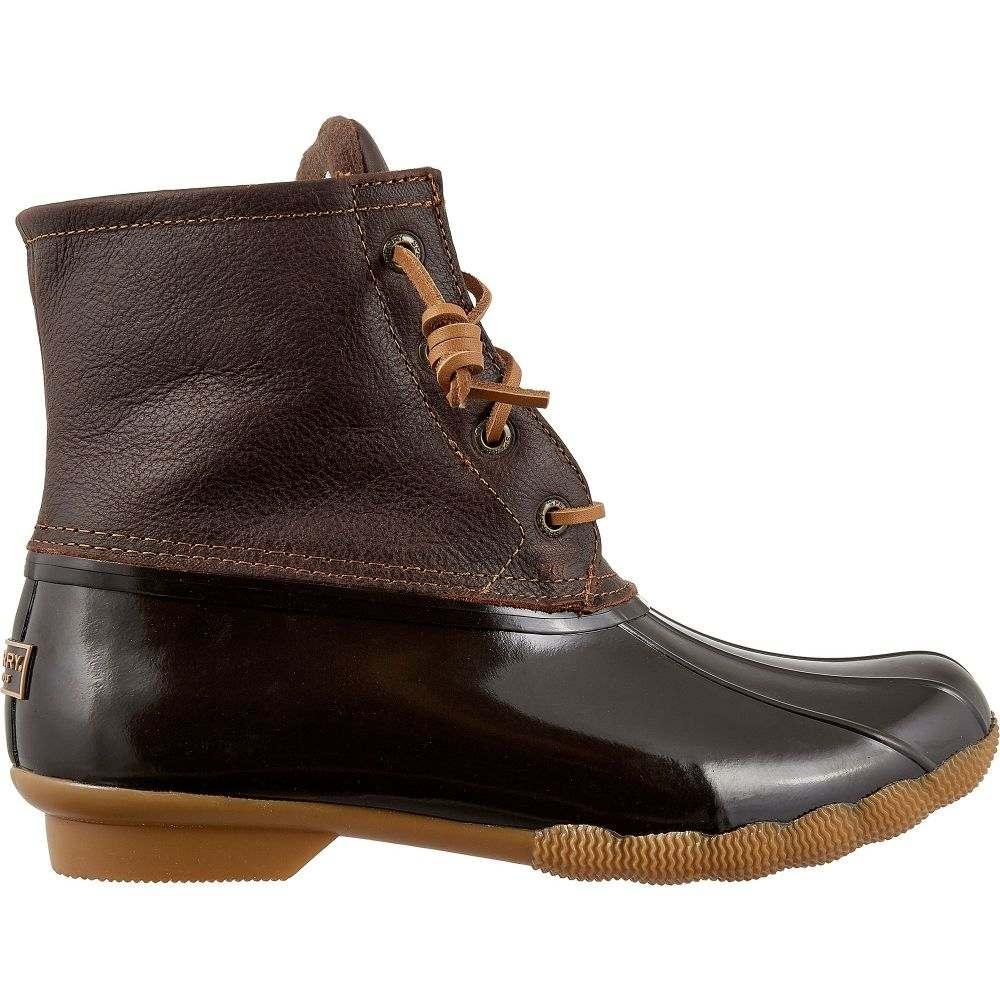 スペリー Sperry Top-Sider レディース ブーツ ウインターブーツ シューズ・靴【Sperry Saltwater Leather Waterproof Winter Boots】Brown