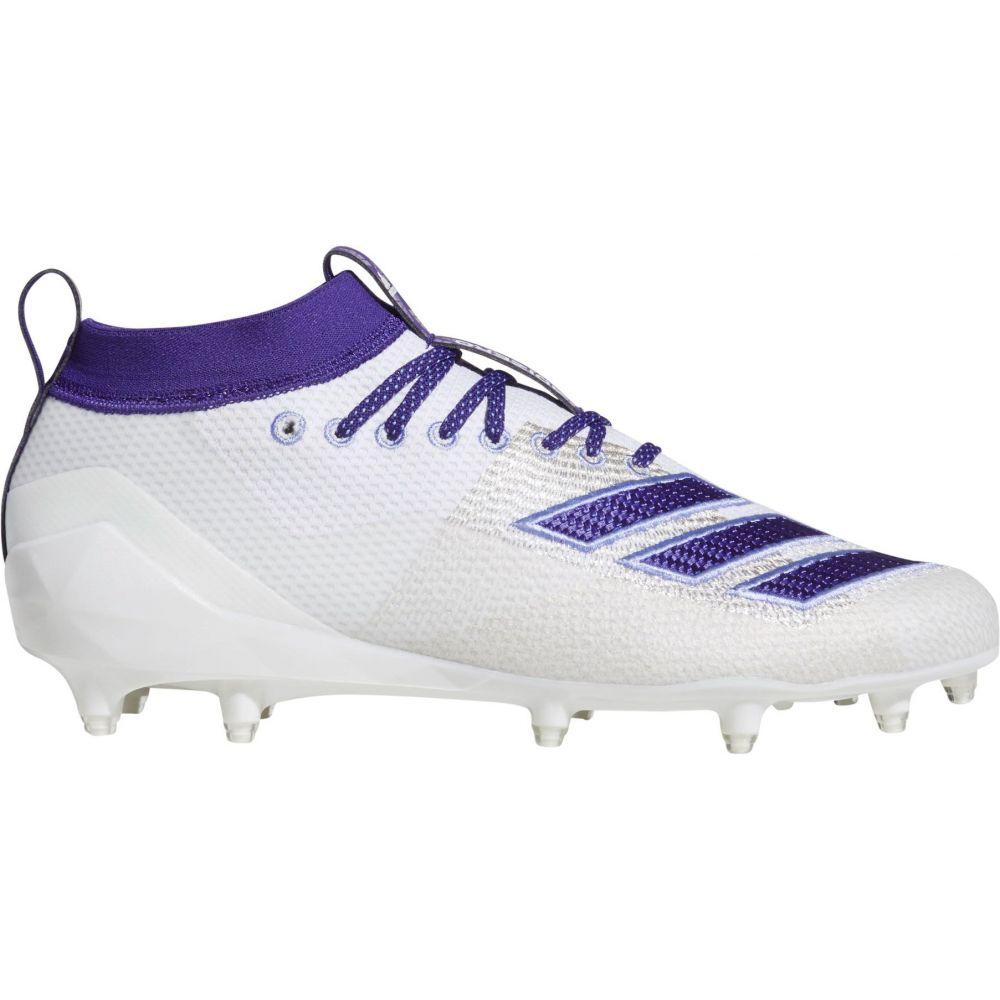 アディダス adidas メンズ アメリカンフットボール スパイク シューズ・靴【adizero 8.0 Burner Football Cleats】White/Purple