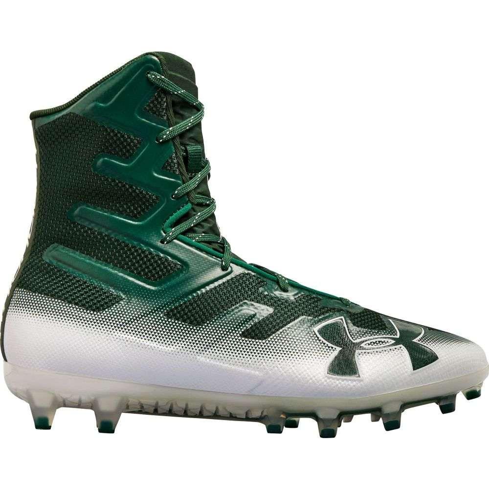 アンダーアーマー Under Armour メンズ アメリカンフットボール スパイク シューズ・靴【Highlight MC Football Cleats】Dark Green/White