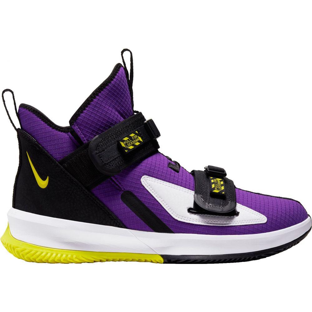 ナイキ Nike メンズ バスケットボール シューズ・靴【LeBron Soldier 13 SFG Basketball Shoes】Purp/Dynamic Yellow/Black