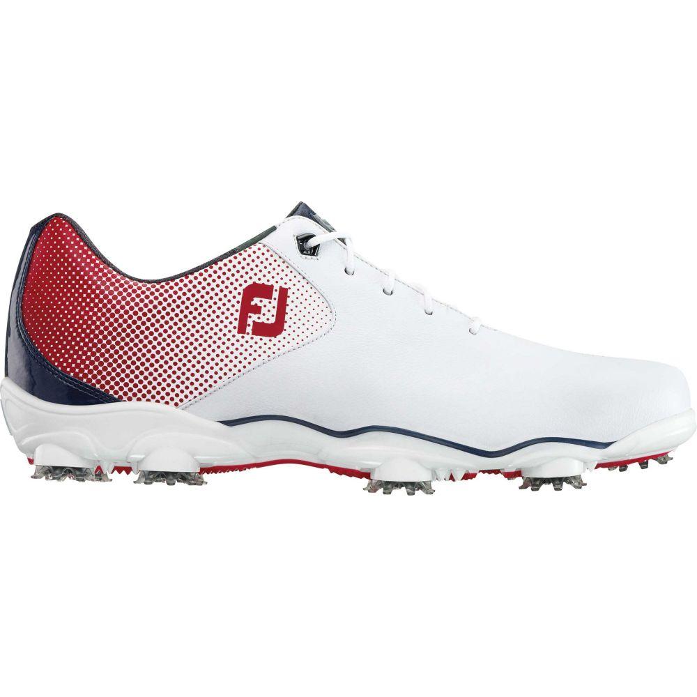 フットジョイ FootJoy メンズ ゴルフ シューズ・靴【D.N.A. Helix Golf Shoes】White/Red