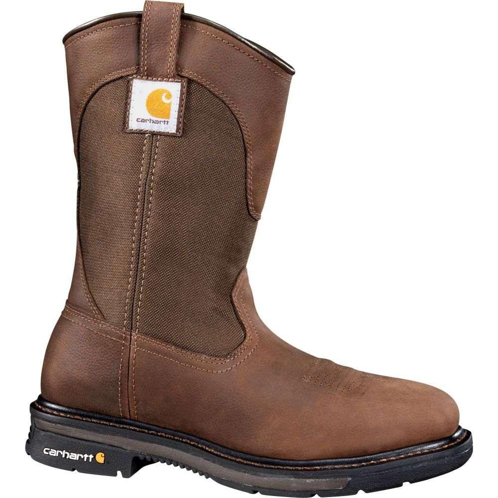 カーハート メンズ シューズ 靴 ブーツ 最安値に挑戦 ☆送料無料☆ 当日発送可能 Brown サイズ交換無料 Carhartt スクエアトゥ ウェリントンブーツ Steel Western Square ワークブーツ Work Toe Wellington Boots ウェスタンブーツ 11''