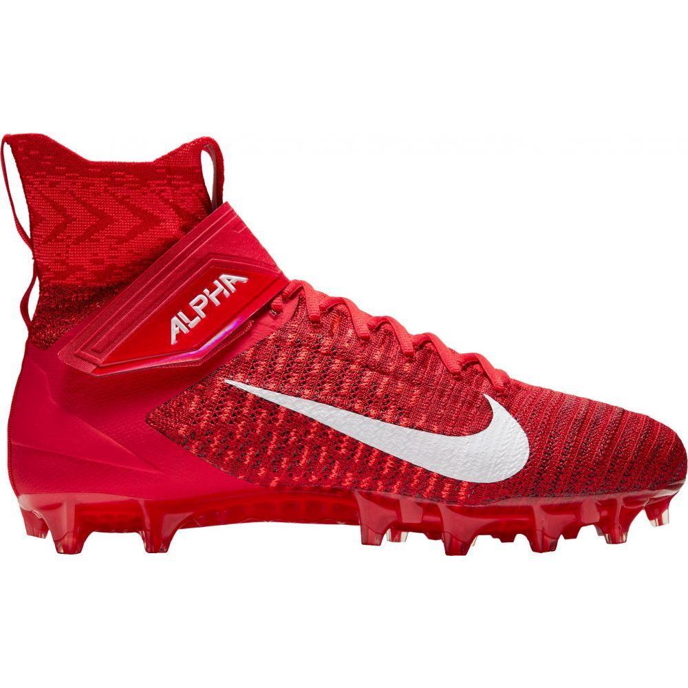 ナイキ Nike メンズ アメリカンフットボール スパイク シューズ・靴【Alpha Menace Elite 2 Football Cleats】Red/White