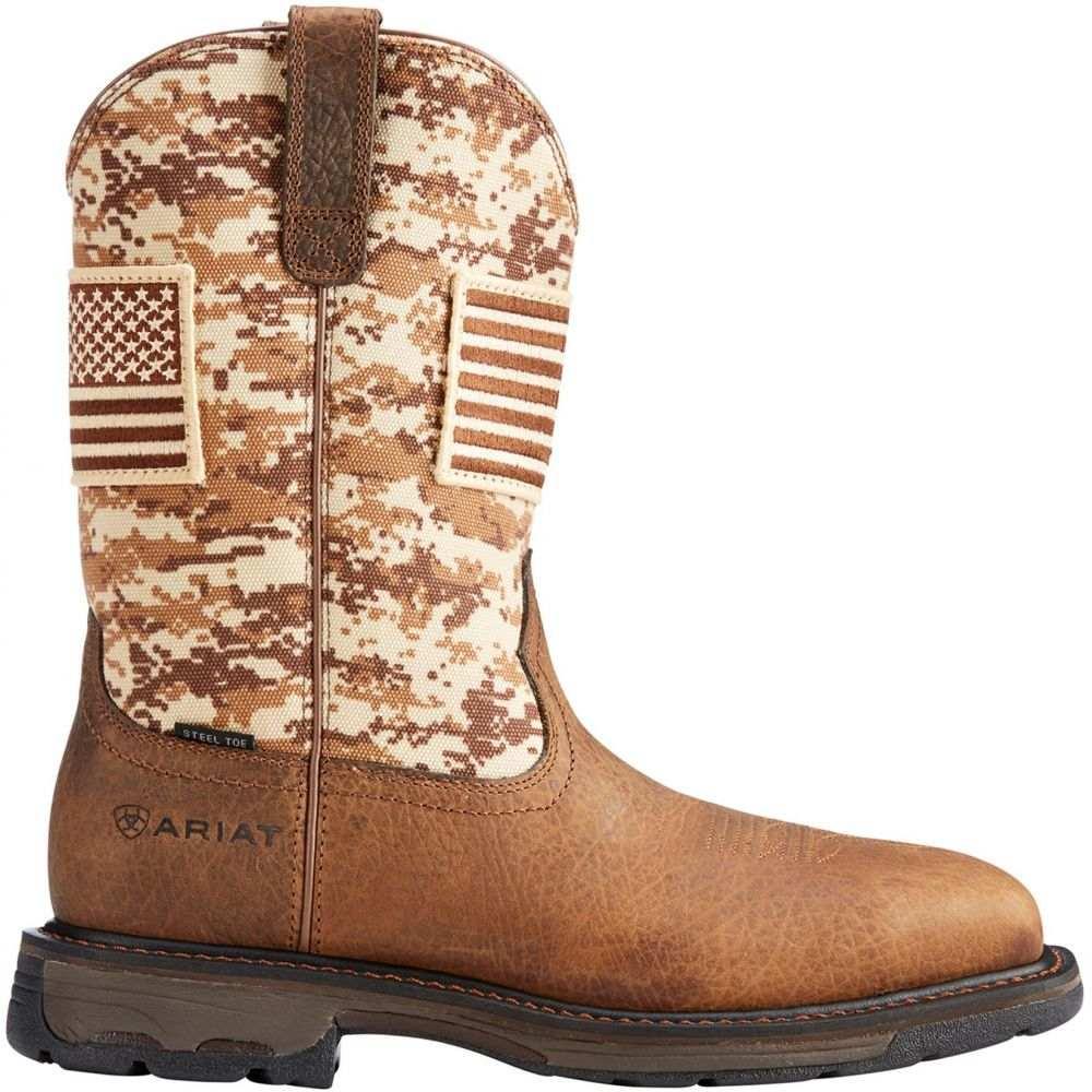 アリアト Ariat メンズ ブーツ ウェスタンブーツ ワークブーツ シューズ・靴【Workhog Patriot Steel Toe Western Work Boots】Camo