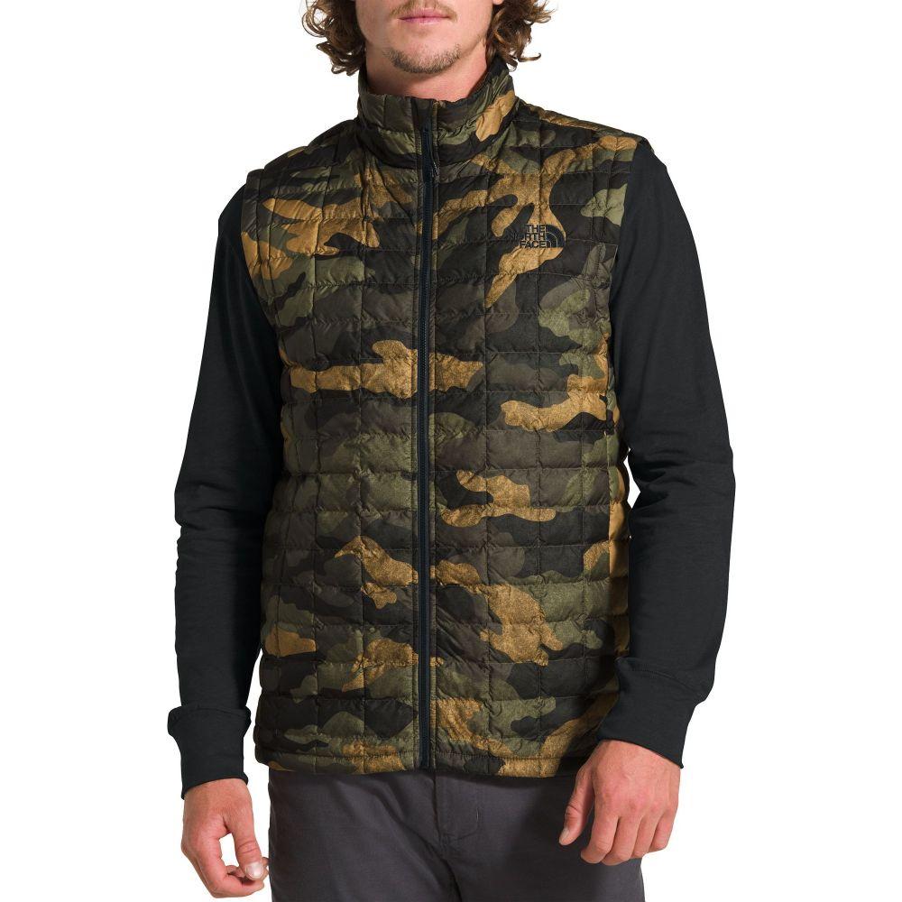 ザ ノースフェイス The North Face メンズ ベスト・ジレ トップス【ThermoBall Eco Vest】Brnt Olve Grn Waxd Cmo Pt