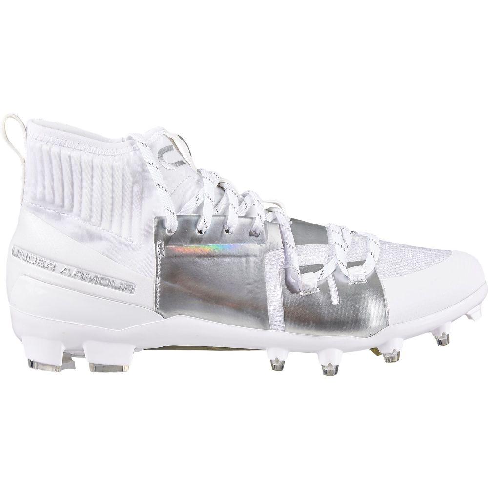 アンダーアーマー Under Armour メンズ アメリカンフットボール スパイク シューズ・靴【C1N MC Football Cleats】White/Silver