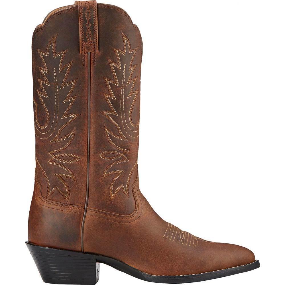 アリアト Ariat レディース ブーツ ウェスタンブーツ シューズ・靴【Heritage 12'' Western Boots】Distressed Brown