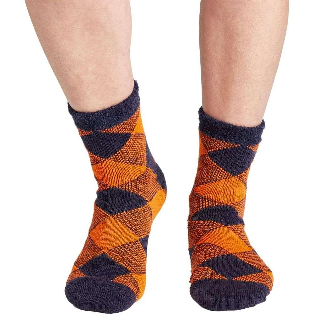 フィールドアンドストリーム Field & Stream ユニセックス ソックス インナー・下着【Team Buffalo Check Cozy Cabin Crew Socks】Navy/Orange