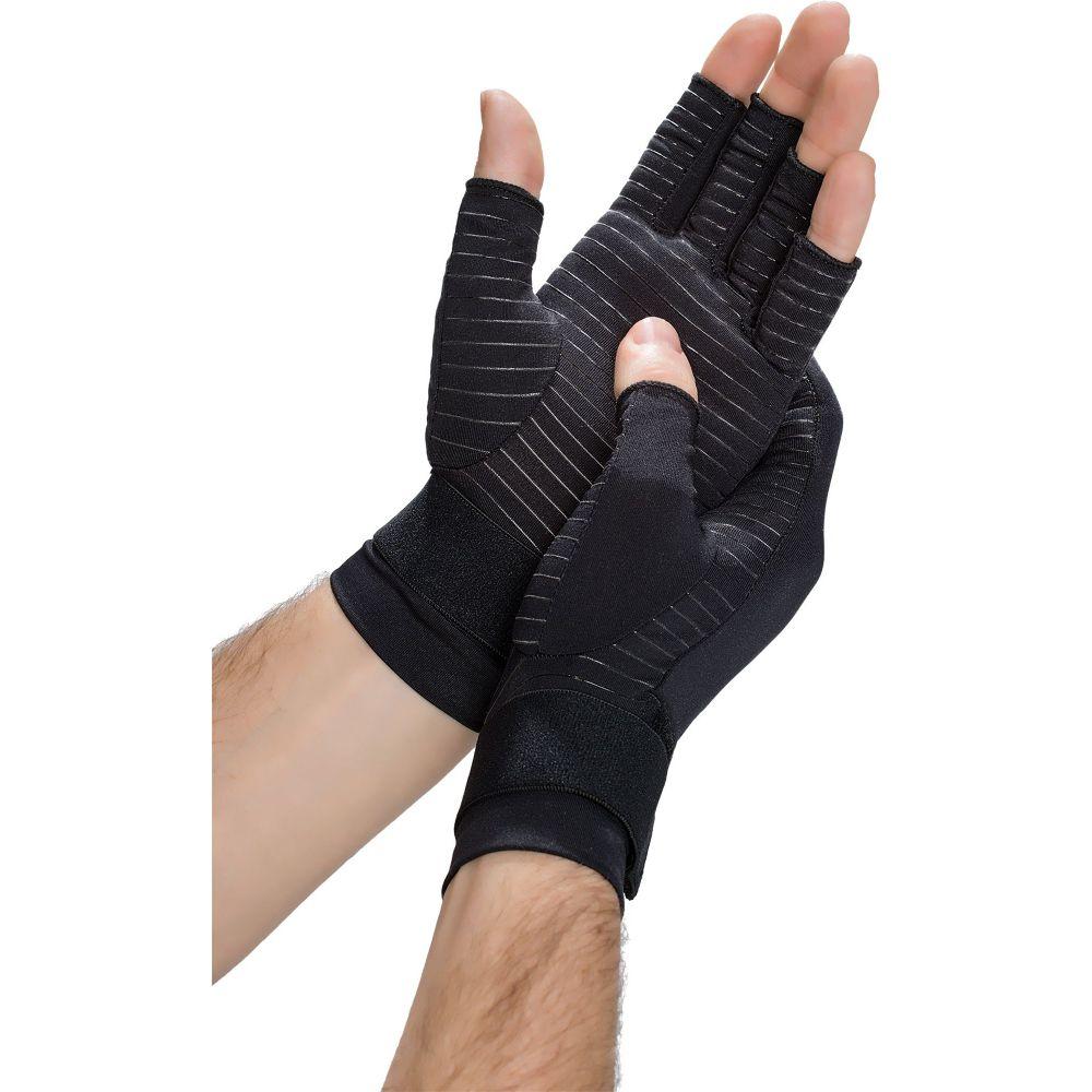 コッパーフィット ユニセックス 今だけ限定15%OFFクーポン発行中 ファッション小物 手袋 グローブ Black サイズ交換無料 Gloves Hand 買い取り Compression Fit Copper Relief