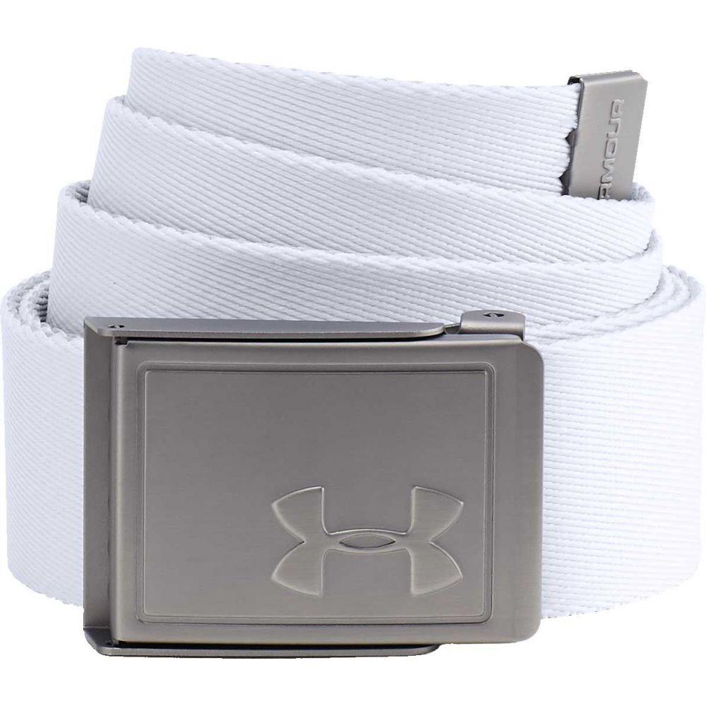 アンダーアーマー 高品質 ユニセックス ゴルフ White Overcast Gray 割引も実施中 サイズ交換無料 Under 2.0 ベルト Golf Reversible Armour Belt Webbing