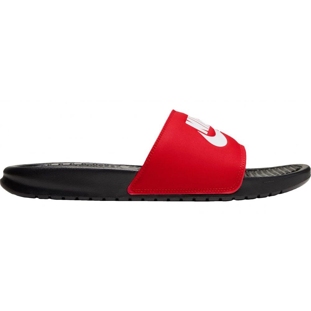 ナイキ Nike メンズ サンダル シューズ・靴【Benassi Just Do It Slides】Black/White/Univ Red