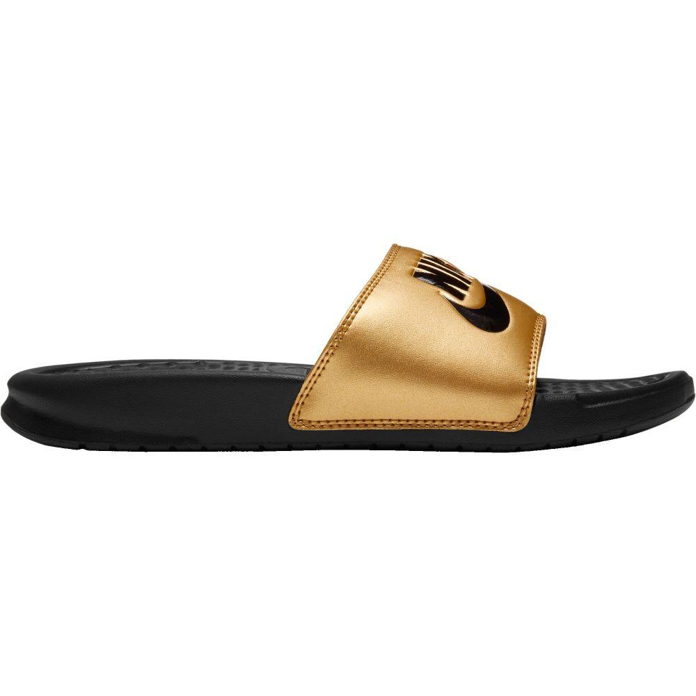 ナイキ Nike レディース サンダル・ミュール シューズ・靴【Benassi Just Do It Slides】Black/Black/Metallic Gold