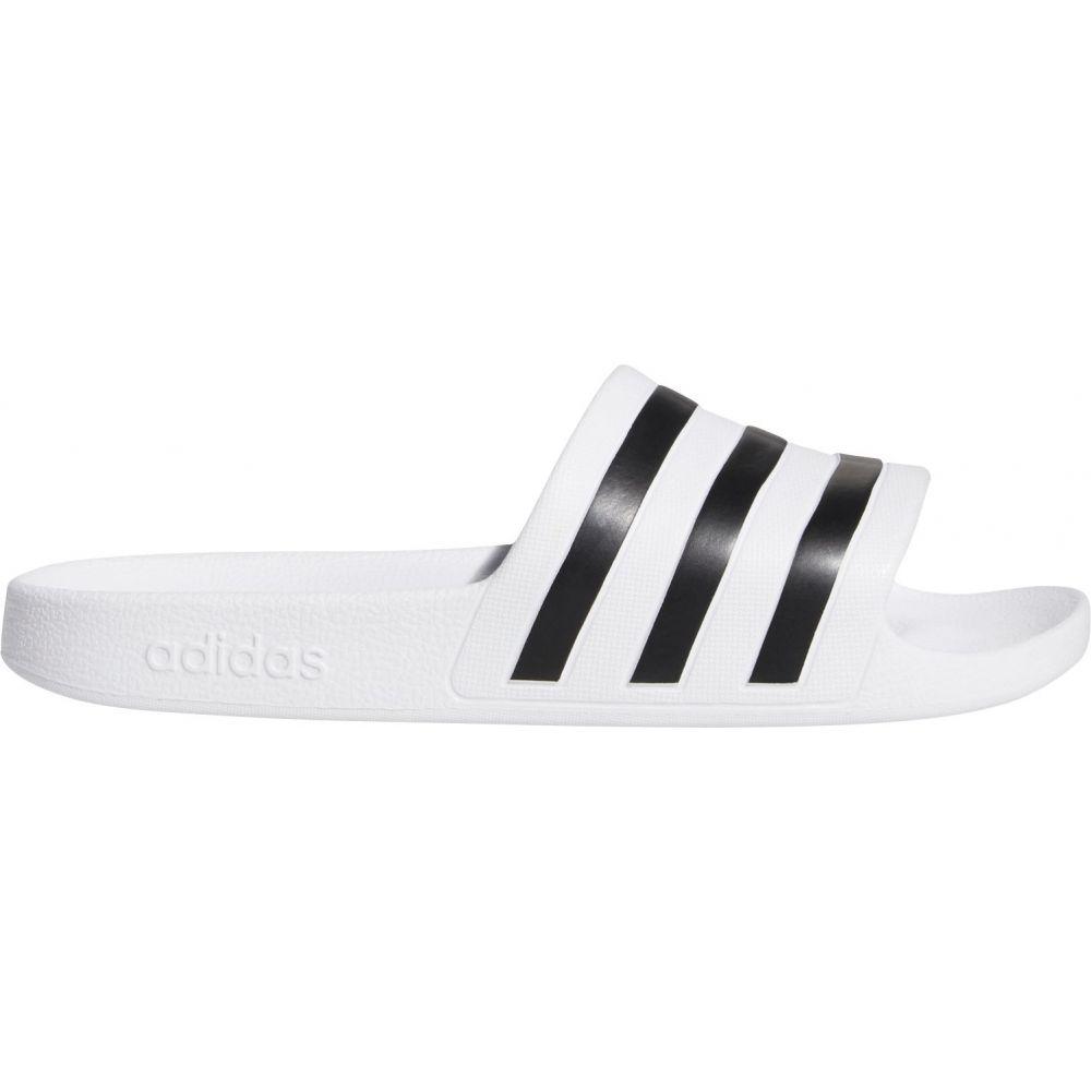 アディダス adidas レディース サンダル・ミュール シューズ・靴【Adilette Aqua Slides】White/Black