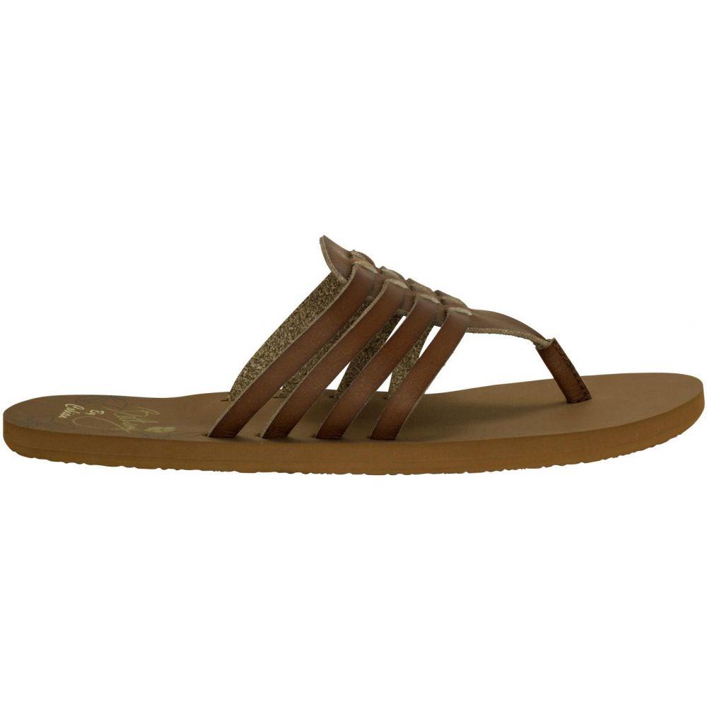 コビアン Cobian レディース ビーチサンダル シューズ・靴【Aloha Flip Flops】Chocolate
