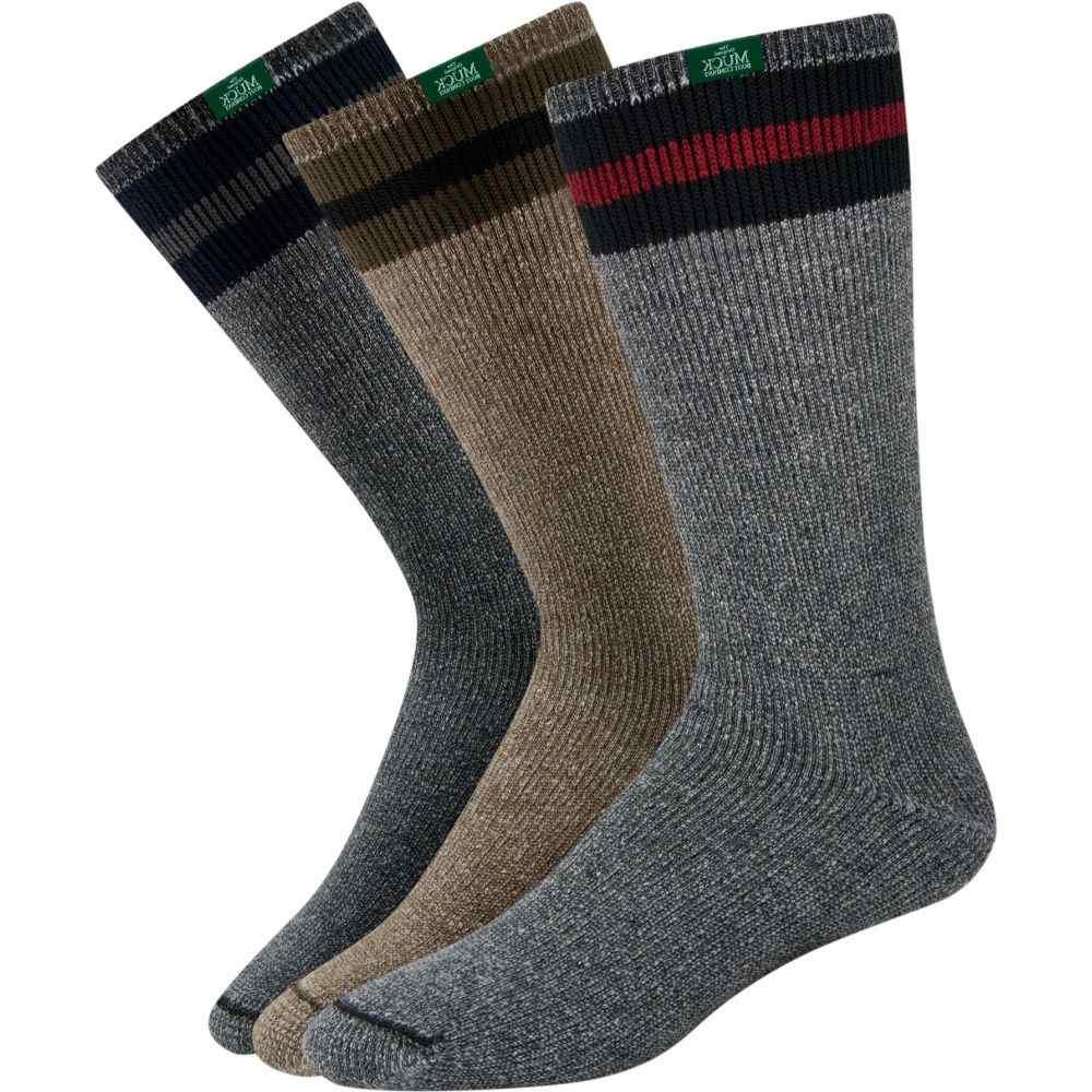 マックブーツ Muck Boots ユニセックス ソックス 3点セット ブーツバッグ インナー・下着【Muck's All American Wool Boot Socks - 3 Pack】Assorted