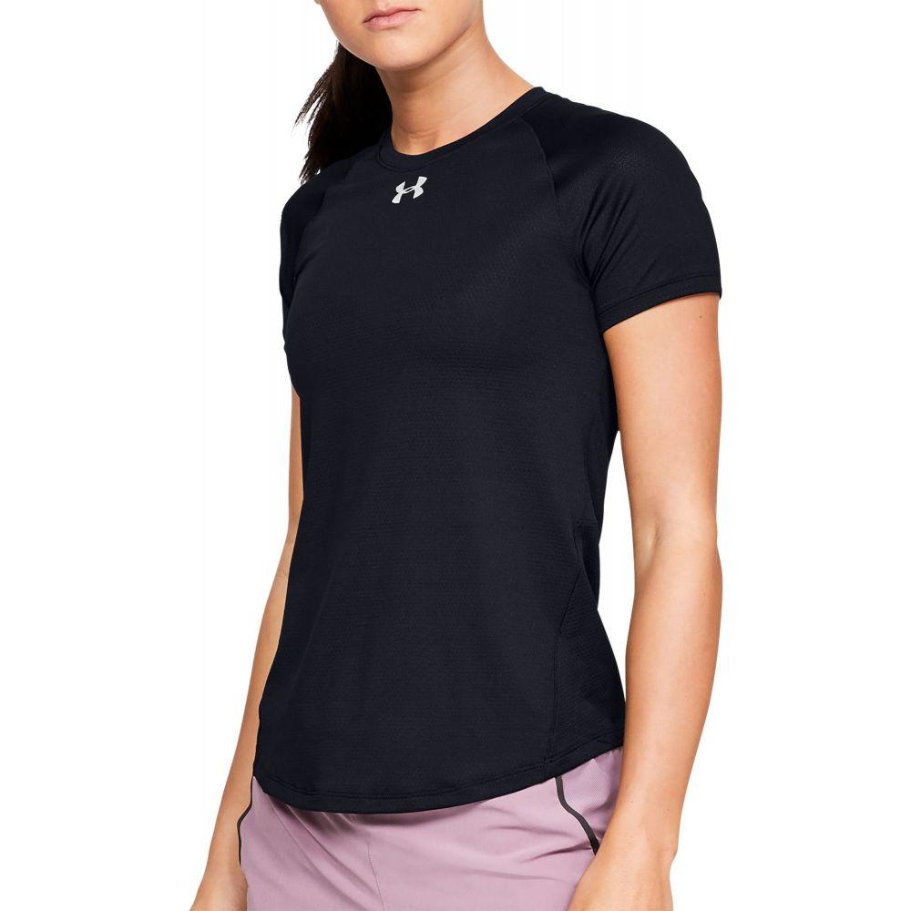 アンダーアーマー Under Armour レディース ランニング・ウォーキング Tシャツ トップス【Qualifier HexDelta Running T-Shirt】Black