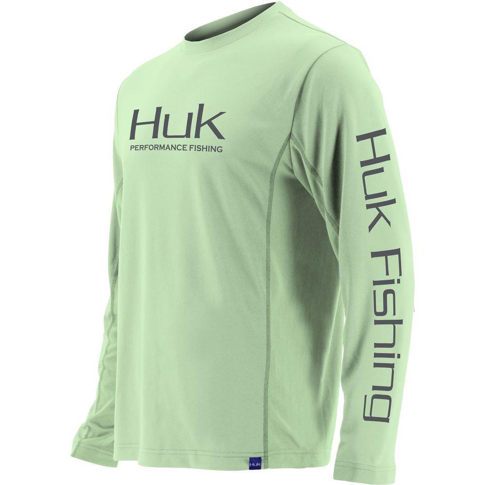 ハック HUK メンズ 釣り・フィッシング トップス【Icon X Performance Fishing Long Sleeve Shirt (Regular and Big & Tall)】Key Lime
