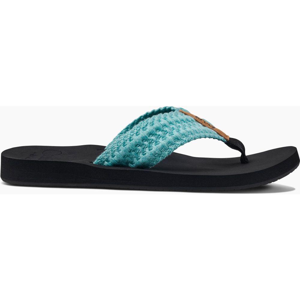 リーフ Reef レディース ビーチサンダル シューズ・靴【Cushion Threads Flip Flops】Aqua