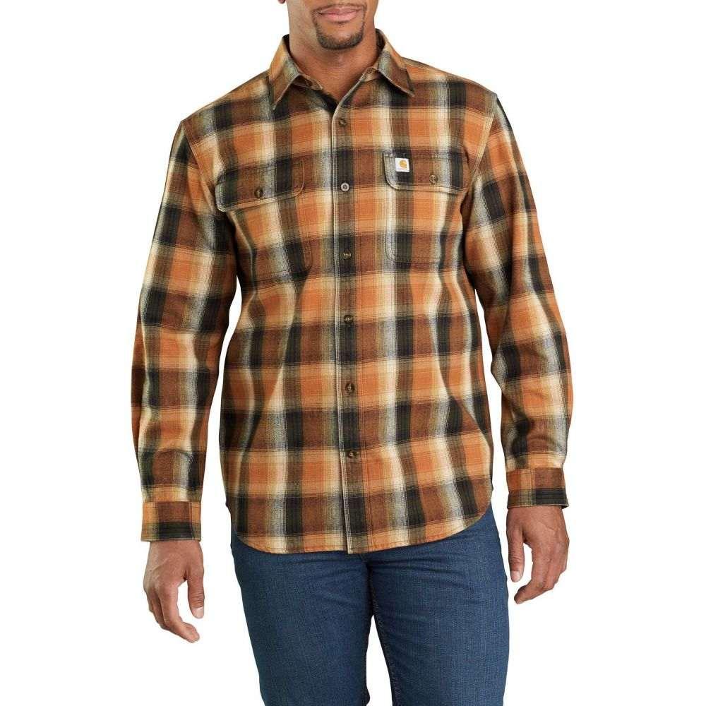 カーハート Carhartt メンズ シャツ フランネルシャツ トップス【Hubbard Plaid Flannel Shirt (Regular and Big & Tall)】Umber