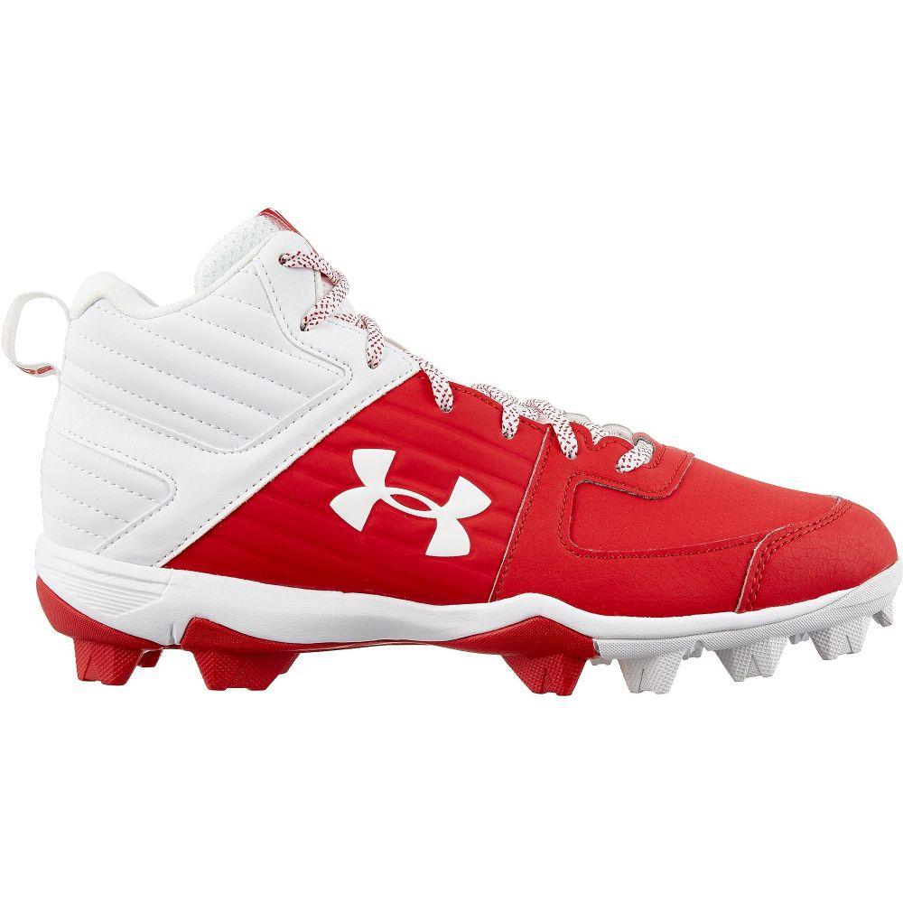 アンダーアーマー Under Armour メンズ 野球 スパイク シューズ・靴【Leadoff Mid Baseball Cleats】Red/White