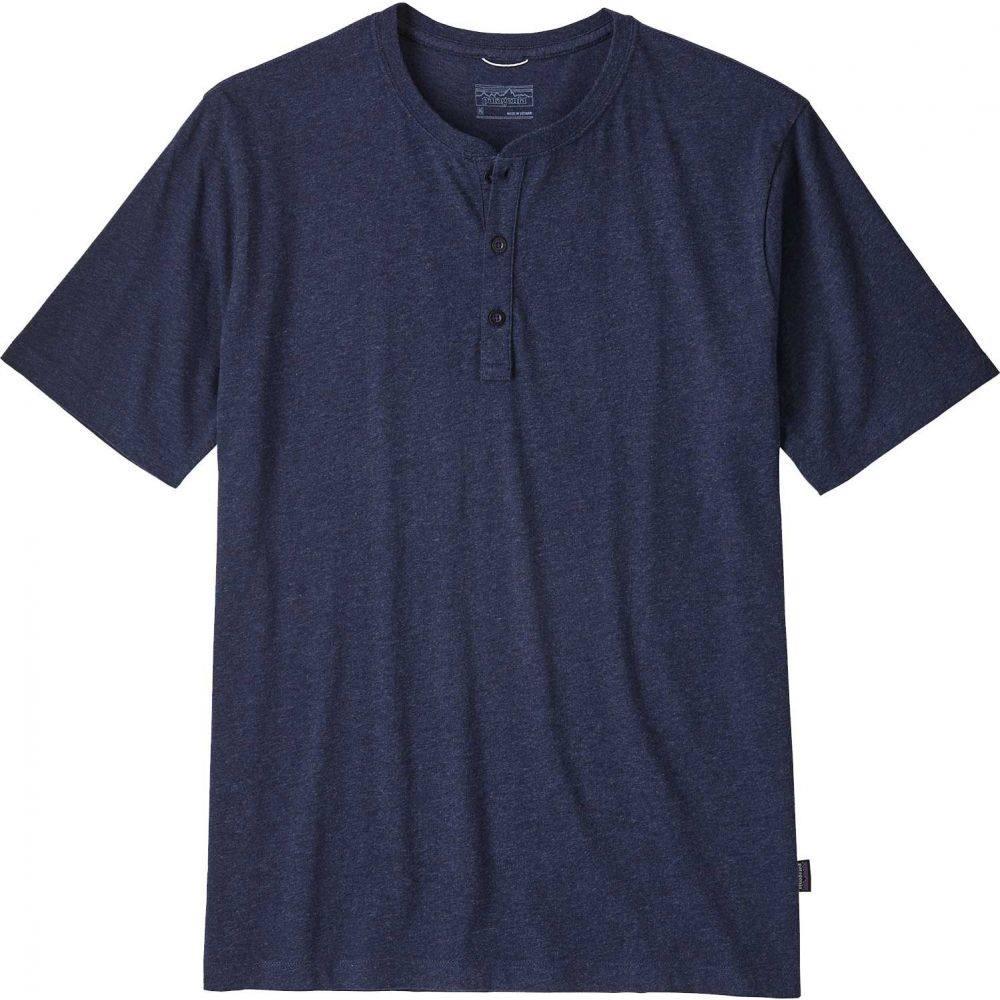 パタゴニア Patagonia メンズ Tシャツ ヘンリーシャツ トップス【Squeaky Clean Henley T-Shirt】Navy Blue