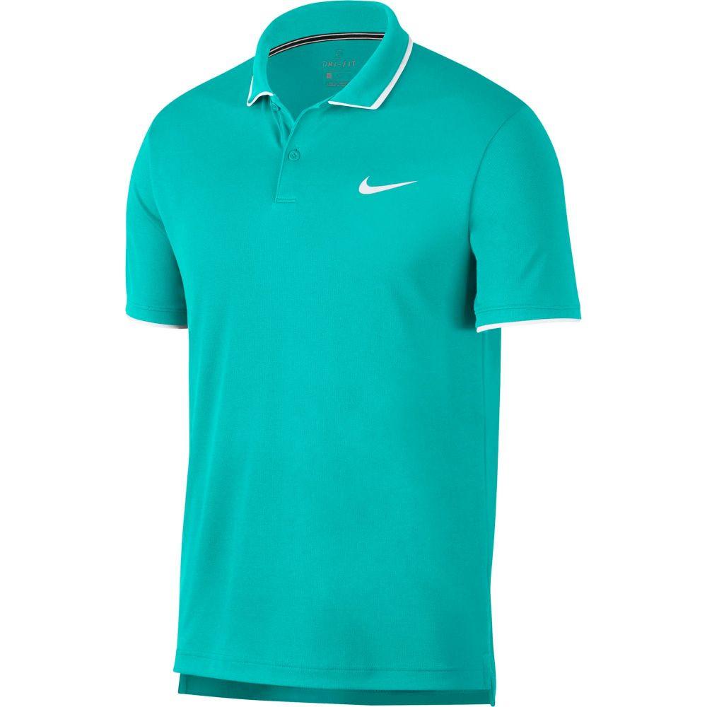 ナイキ Nike メンズ テニス ドライフィット ポロシャツ トップス【Court Dri-FIT Tennis Polo】Hyper Jade/White/White