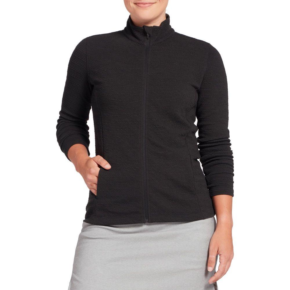 レディー ハーゲン Lady Hagen レディース ゴルフ ジャケット アウター【Hagen Key Item Full Zip Golf Jacket】黒