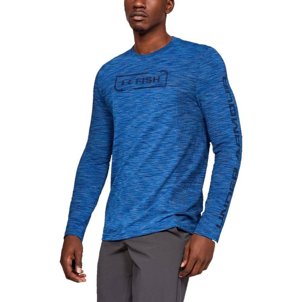 アンダーアーマー Under Armour メンズ トップス 【Seamless Fish Hunter Crew Long Sleeve Shirt】Carolina Blue