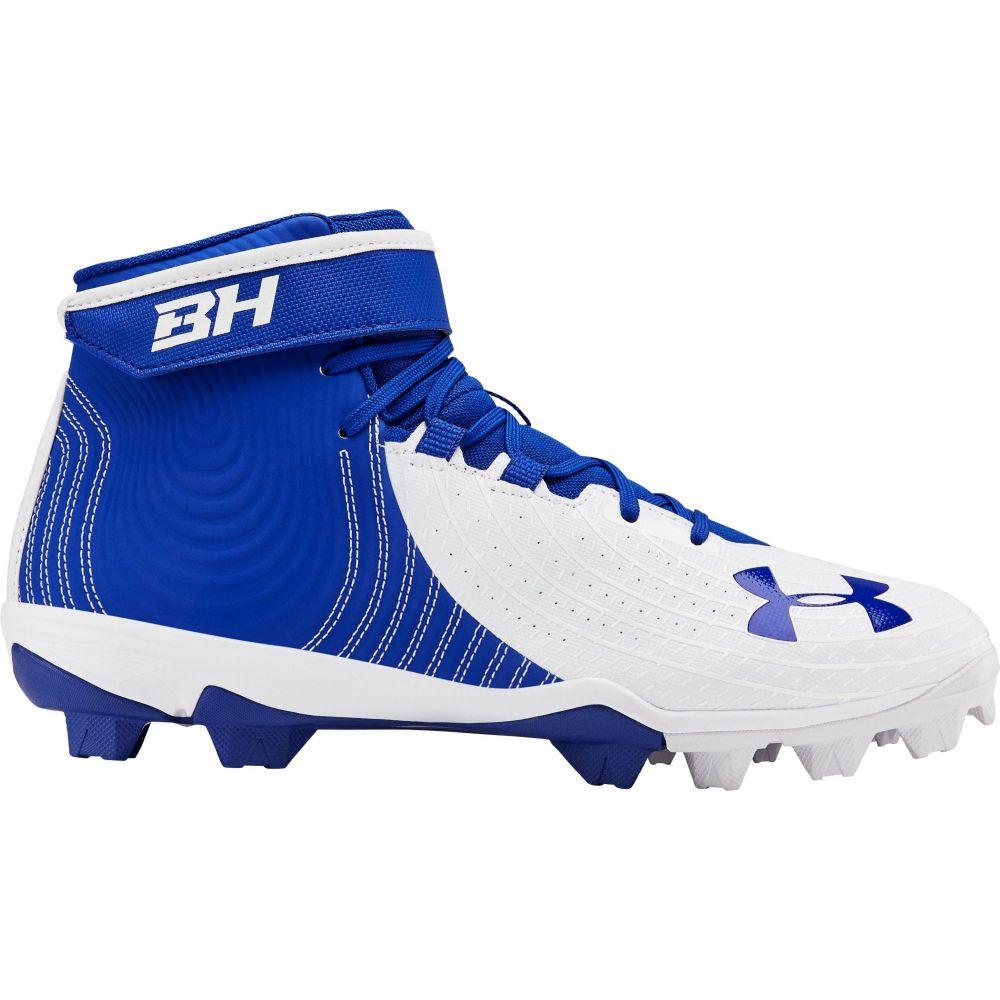 アンダーアーマー Under Armour メンズ 野球 スパイク シューズ・靴【Harper 4 Mid RM Baseball Cleats】Royal/White