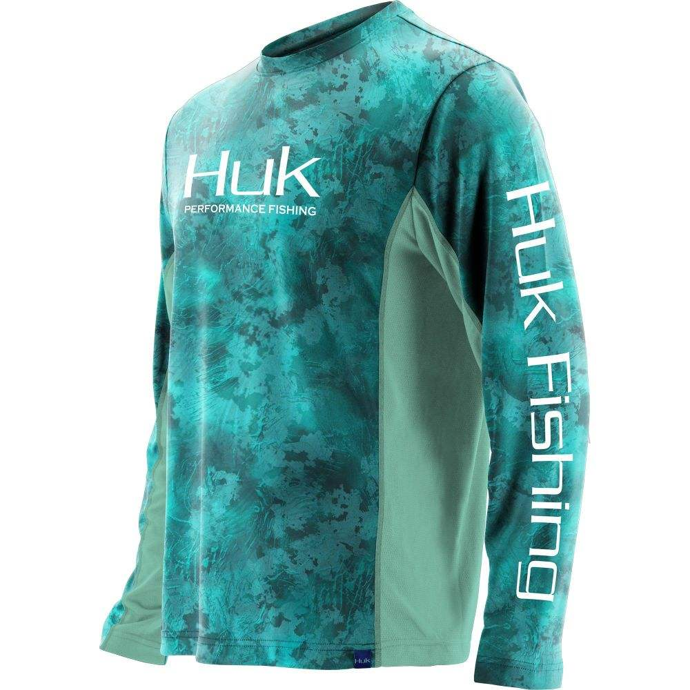 ハック HUK メンズ 釣り・フィッシング トップス【Icon X Camo Long Sleeve Fishing Shirt (Regular and Big & Tall)】Subphantis Shallows