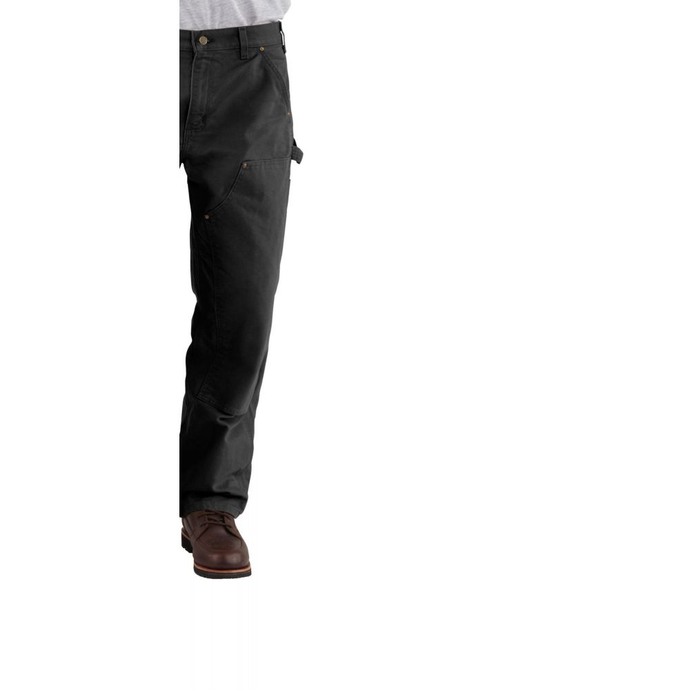 カーハート Carhartt メンズ ボトムス・パンツ ダンガリー【Double Front Work Dungarees (Regular and Big & Tall)】Black