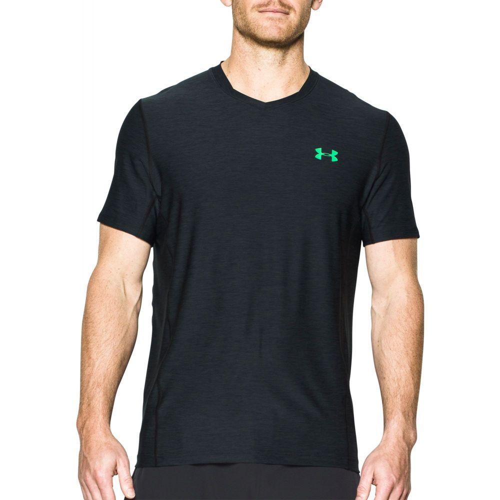 アンダーアーマー Under Armour メンズ Tシャツ トップス【SuperVent Fitted T-Shirt】Black/Vapor Green