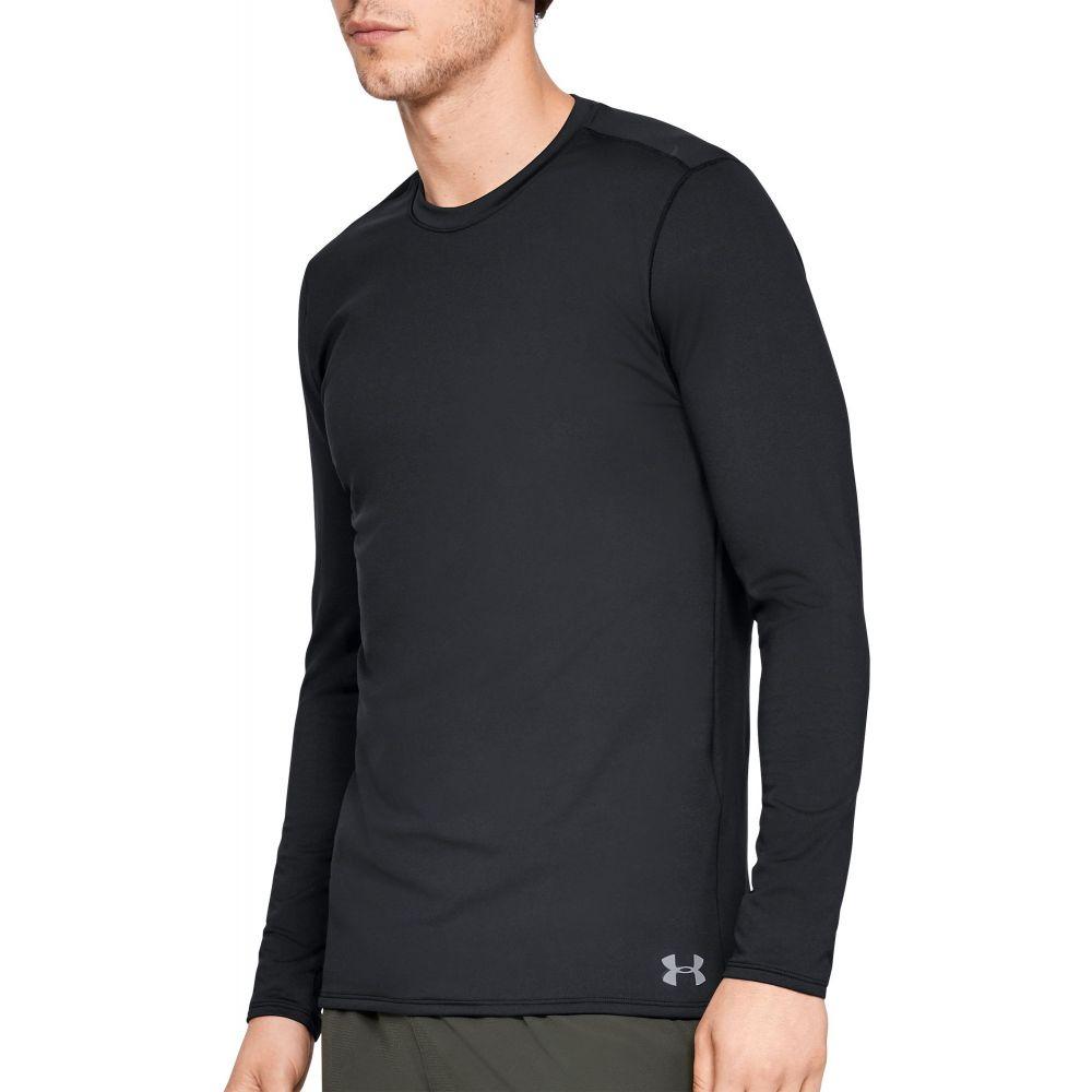 アンダーアーマー Under Armour メンズ トップス 【ColdGear Fitted Crew Long Sleeve Shirt (Regular and Big & Tall)】Black/Steel