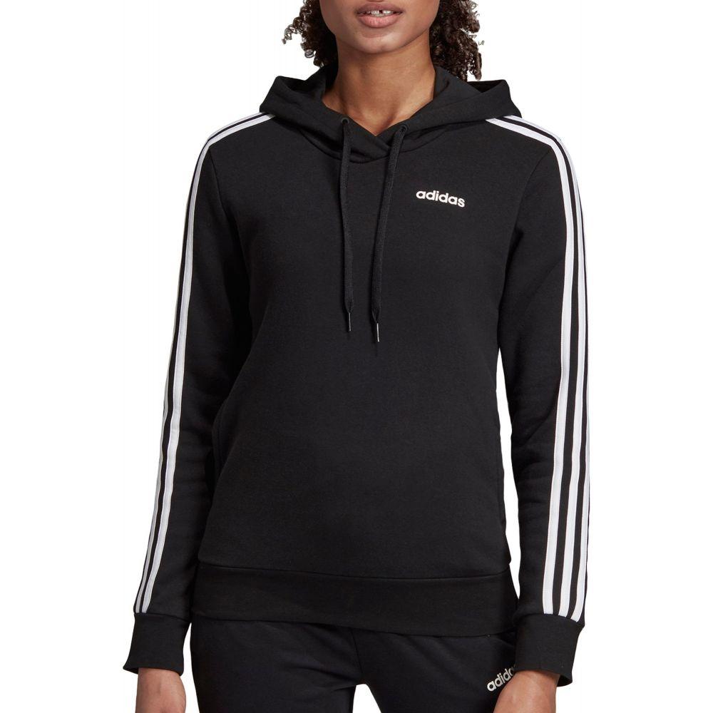アディダス adidas レディース パーカー トップス【Essentials 3-Stripes Hoodie】Black