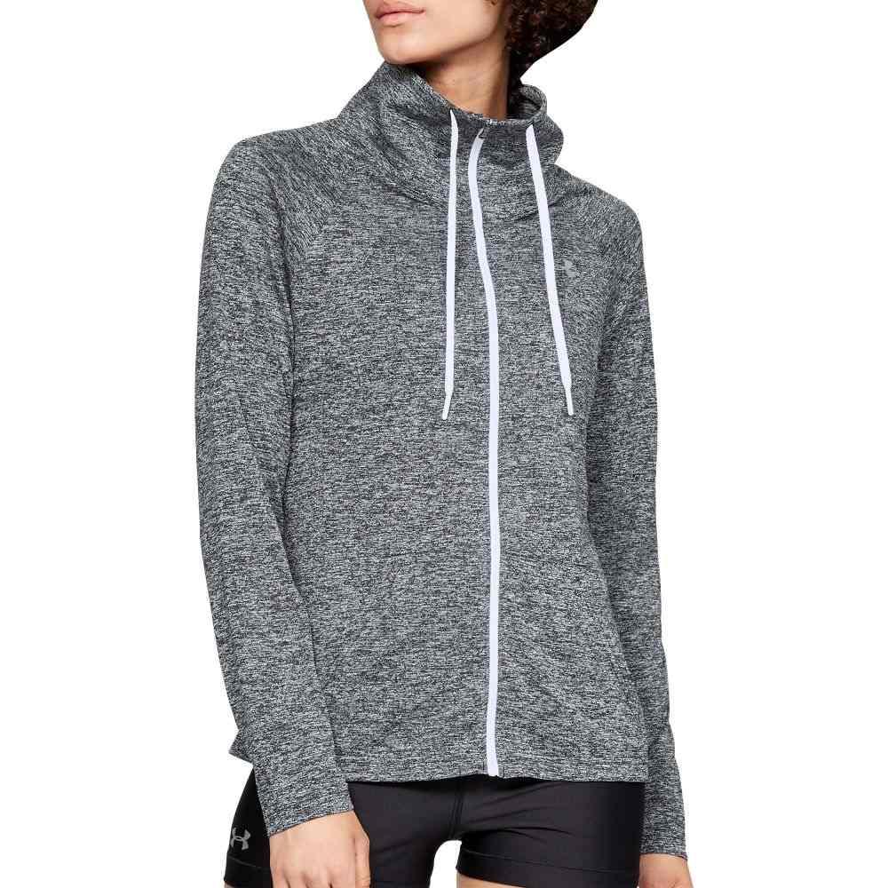 アンダーアーマー Under Armour レディース スウェット・トレーナー トップス【Tech Twist Full Zip Sweatshirt】Black/White