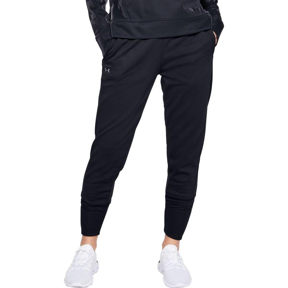 アンダーアーマー Under Armour レディース ジョガーパンツ ボトムス・パンツ【Armour Fleece Jogger Pants】Black/Jet Gray