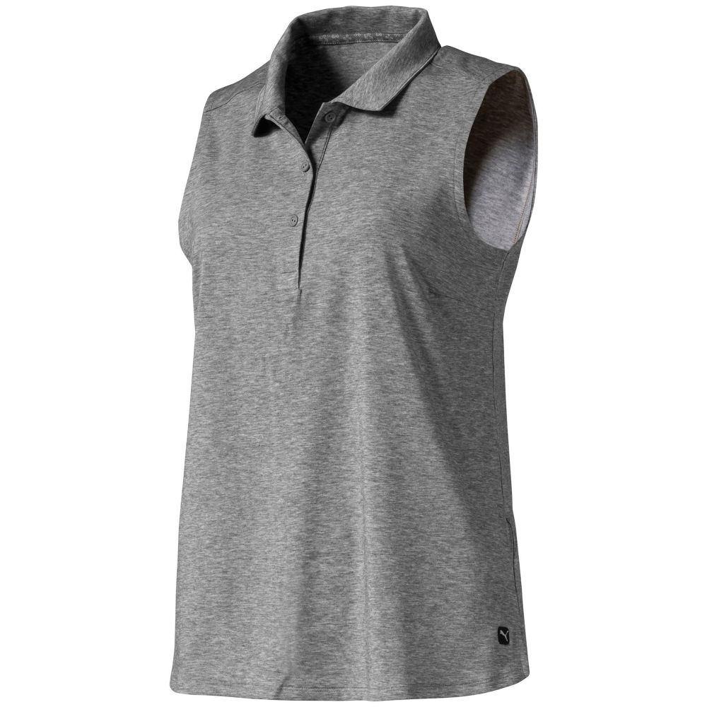 プーマ PUMA レディース ゴルフ ノースリーブ ポロシャツ トップス【Flow Sleeveless Golf Polo】Medium Gray Heather