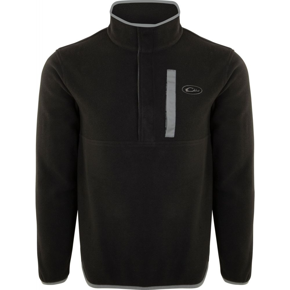 ドレイクウォーターフォール Drake Waterfowl メンズ フリース トップス【Camp Fleece Pullover 2.0 (Regular and Big & Tall)】Black/Charcoal