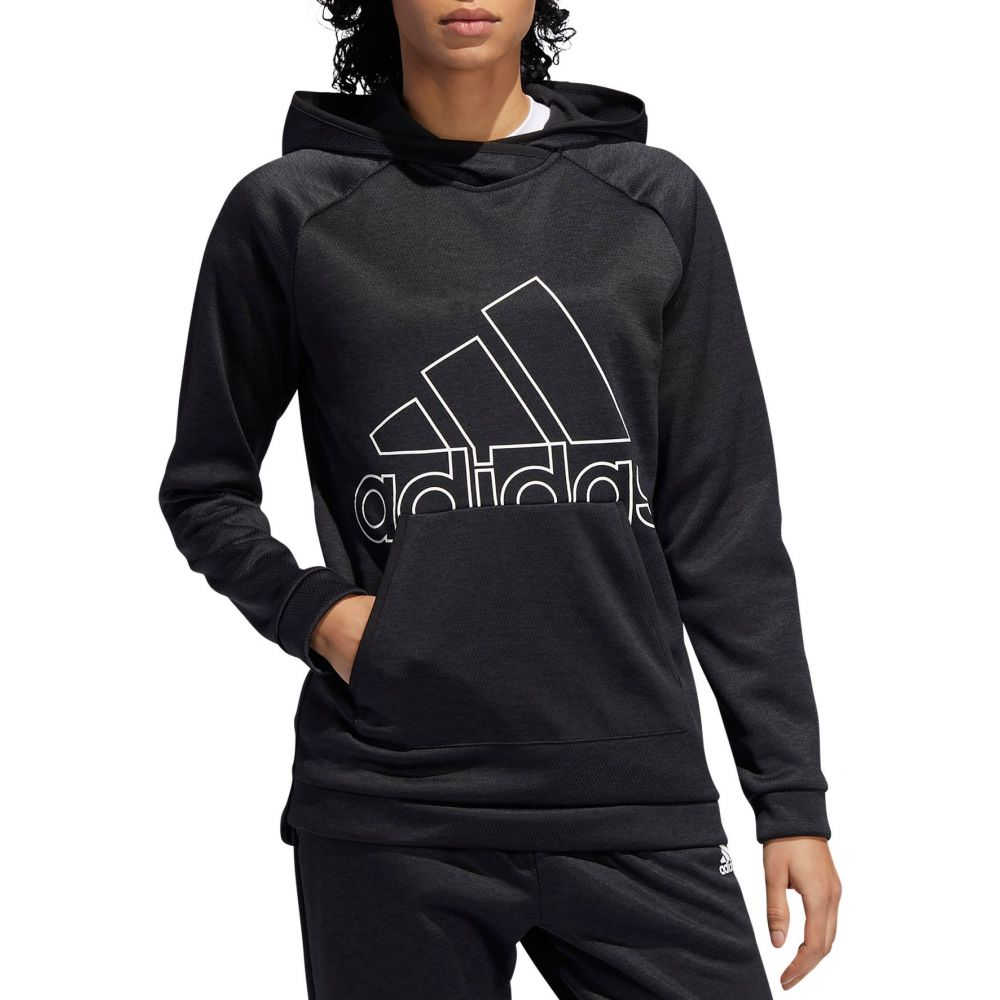 アディダス adidas レディース パーカー トップス【Team Issue Badge of Sport Hoodie】Black/White