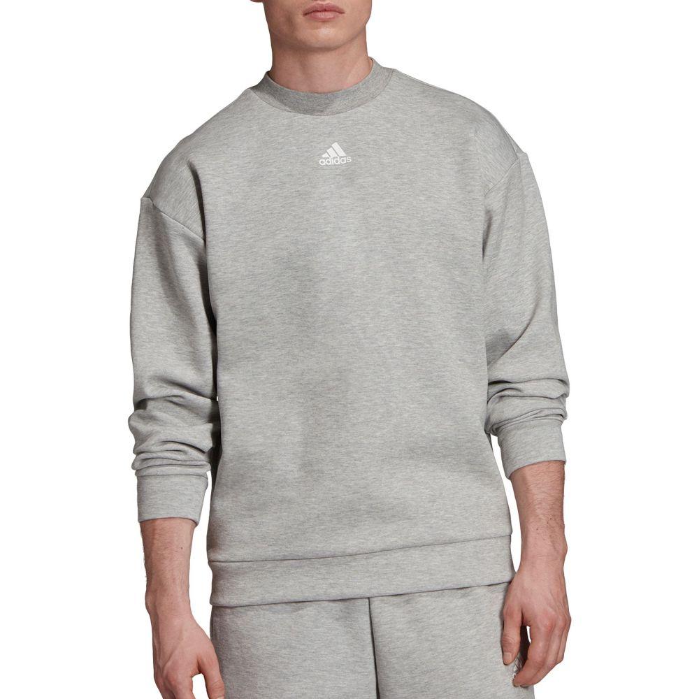 アディダス adidas メンズ スウェット・トレーナー トップス【Must Haves 3-Stripes Crew Sweatshirt】Mgh/White