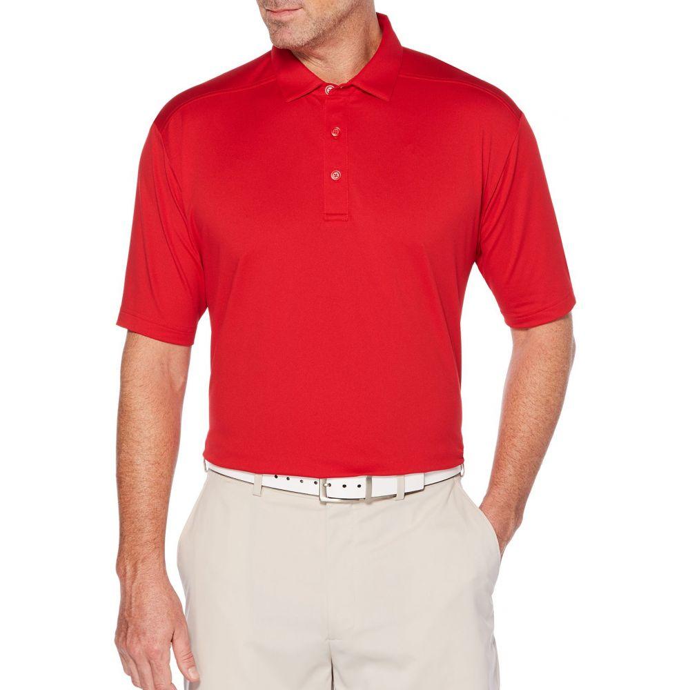 キャロウェイ Callaway メンズ ゴルフ ポロシャツ トップス【Cooling Micro Hex Golf Polo】Tango Red
