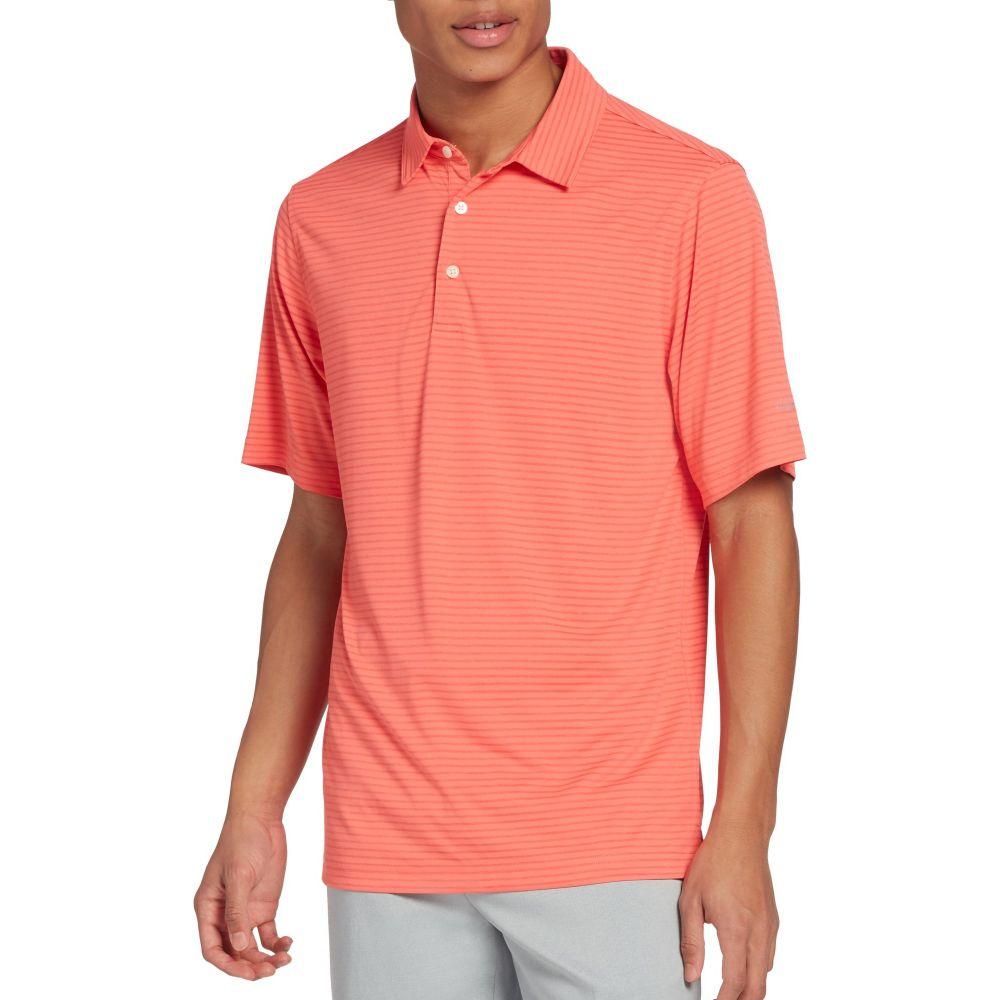 ウォルターヘーゲン Walter Hagen メンズ ゴルフ ポロシャツ トップス【Essential Texture Stripe Golf Polo】Coral