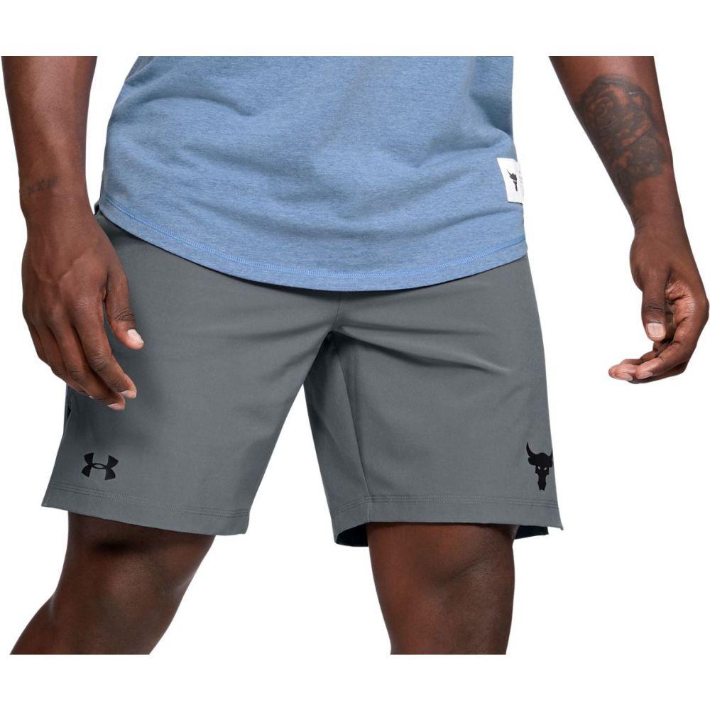 アンダーアーマー Under Armour メンズ フィットネス・トレーニング ショートパンツ ボトムス・パンツ【Project Rock Training Shorts】Mod Gray
