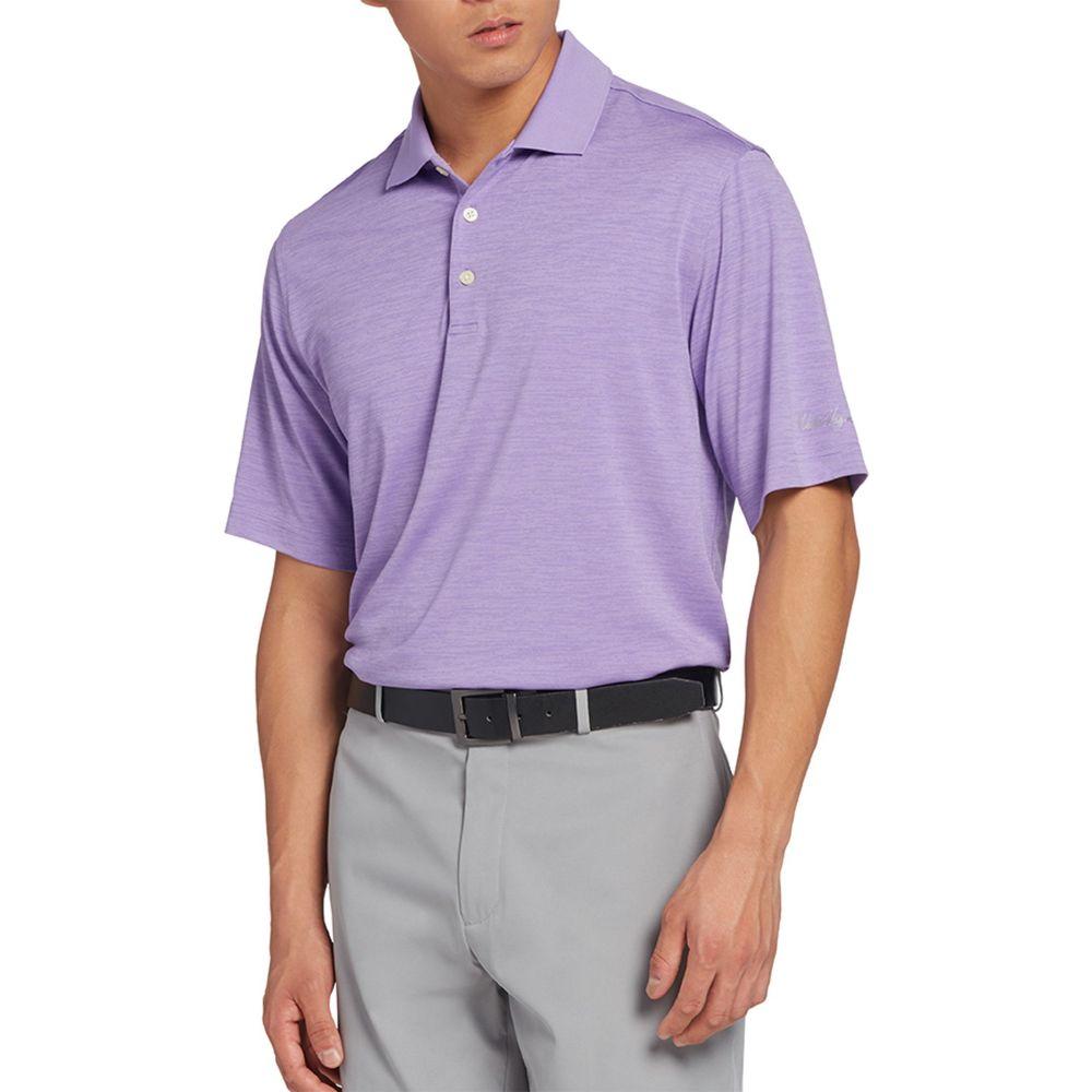ウォルターヘーゲン Walter Hagen メンズ ゴルフ ポロシャツ トップス【Core Space Dye Golf Polo】Bright Lavender